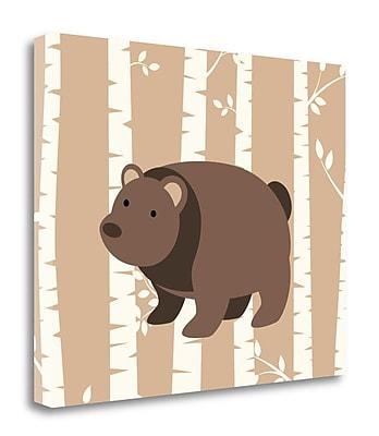 Tangletown Fine Art 'Bear Birch I' Graphic Art Print on Wrapped Canvas; 20'' H x 24'' W