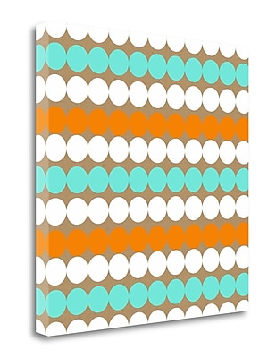 Tangletown Fine Art 'Birthday Dots' Graphic Art Print on Wrapped Canvas; 20'' H x 20'' W