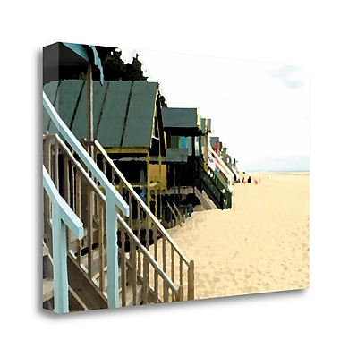 Tangletown Fine Art 'Beach Hut II' Photographic Print on Wrapped Canvas; 26'' H x 39'' W