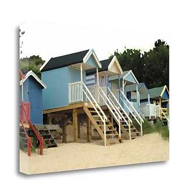 Tangletown Fine Art Beach Hut III' Print on Canvas; 23'' H x 34'' W