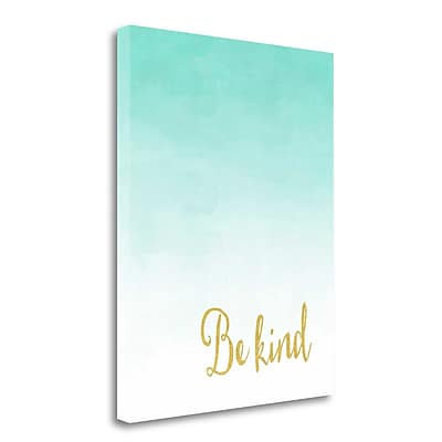Tangletown Fine Art 'Be Kind' Graphic Art Print on Wrapped Canvas; 20'' H x 16'' W