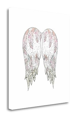 Tangletown Fine Art 'Wings w/ Pink Feathers' Graphic Art Print on Canvas; 32'' H x 28'' W