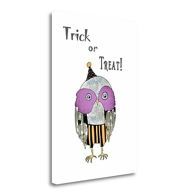 Tangletown Fine Art Trick or Treat Owl' Graphic Art Print on Canvas; 29'' H x 21'' W