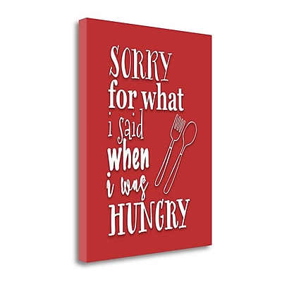 Tangletown Fine Art 'When I Was Hungry' Textual Art on Wrapped Canvas; 23'' H x 18'' W