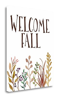Tangletown Fine Art 'Welcome Fall' Textual Art on Wrapped Canvas; 28'' H x 22'' W