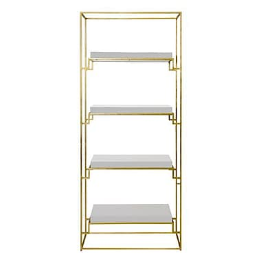 WorldsAway 76'' Etagere Bookcase; White Lacquer