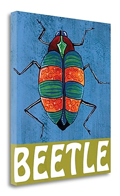 Tangletown Fine Art 'Beetle' Print on Wrapped Canvas; 21'' H x 18'' W