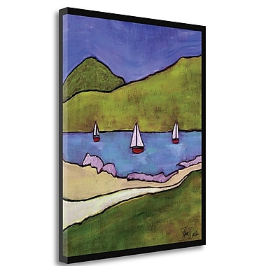 Tangletown Fine Art 'Bellingham Bay I' Print on Wrapped Canvas; 42'' H x 35'' W
