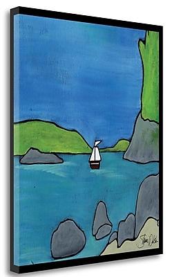 Tangletown Fine Art 'Bellingham Bay II' Print on Wrapped Canvas; 30'' H x 25'' W