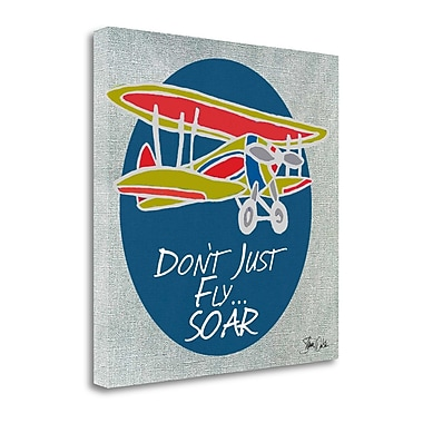 Tangletown Fine Art 'Airplane II' Print on Wrapped Canvas; 25'' H x 25'' W
