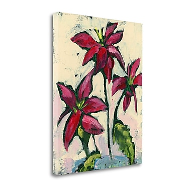 Tangletown Fine Art 'Poinsettia I' Print on Canvas; 27'' H x 21'' W