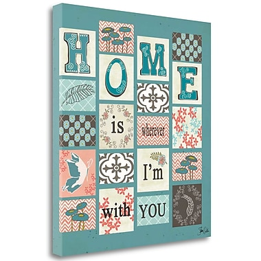 Tangletown Fine Art 'Patch Work Home' Graphic Art Print on Wrapped Canvas; 32'' H x 28'' W