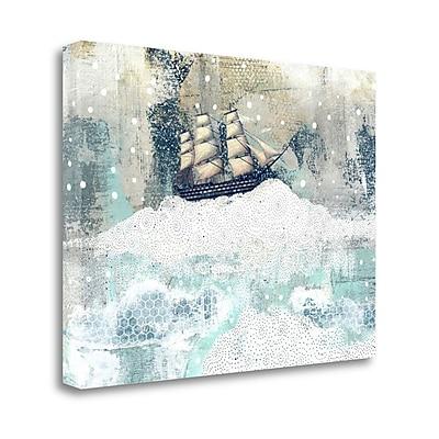 Tangletown Fine Art 'Ship' Graphic Art Print on Canvas; 28'' H x 39'' W