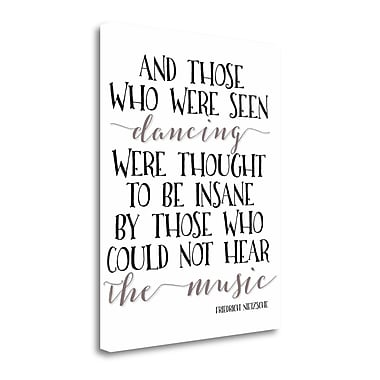 Tangletown Fine Art 'Seen Dancing' Textual Art on Wrapped Canvas; 28'' H x 22'' W
