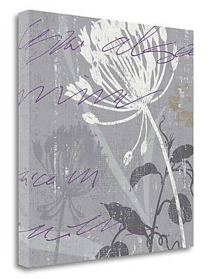 Tangletown Fine Art 'Greenology Gray - II' by Lisa Audit Graphic Art on Wrapped Canvas