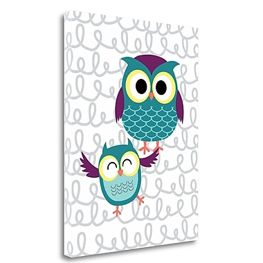 Tangletown Fine Art 'Owl IV' Graphic Art Print on Wrapped Canvas; 28'' H x 22'' W