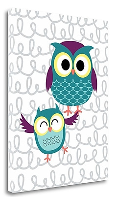 Tangletown Fine Art 'Owl IV' Graphic Art Print on Wrapped Canvas; 20'' H x 16'' W