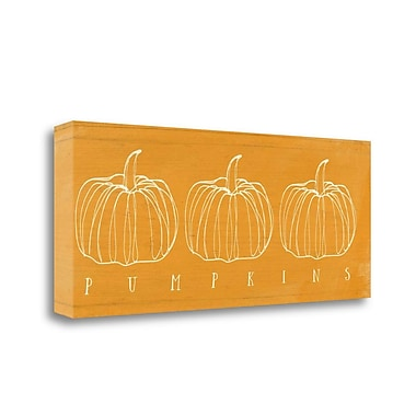Tangletown Fine Art 'Pumpkins' Graphic Art Print on Wrapped Canvas; 16'' H x 40'' W