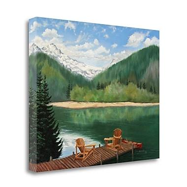 Tangletown Fine Art 'Retreat' Print on Wrapped Canvas; 21'' H x 26'' W