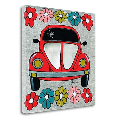 Tangletown Fine Art 'Bug Red' Graphic Art Print on Wrapped Canvas; 20'' H x 20'' W