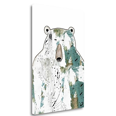 Tangletown Fine Art 'Brown Bear' Graphic Art Print on Wrapped Canvas; 48'' H x 33'' W