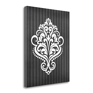 Tangletown Fine Art 'Damask III' Graphic Art Print on Wrapped Canvas; 28'' H x 23'' W