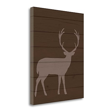Tangletown Fine Art 'Deer I' Graphic Art Print on Wrapped Canvas; 23'' H x 18'' W