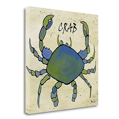 Tangletown Fine Art 'Crab II' Graphic Art Print on Wrapped Canvas; 25'' H x 25'' W