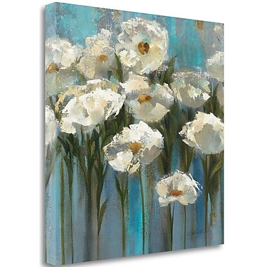 Tangletown Fine Art 'Anemones by the Lake' Print on Wrapped Canvas; 20'' H x 20'' W