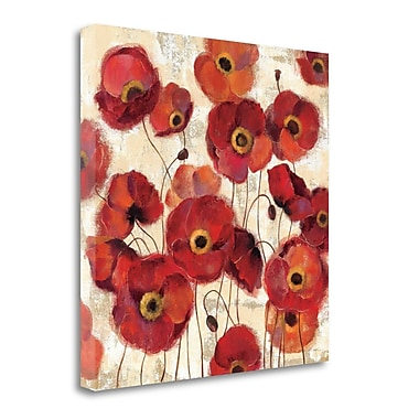 Tangletown Fine Art 'Bold Poppies' Print on Wrapped Canvas; 18'' H x 18'' W