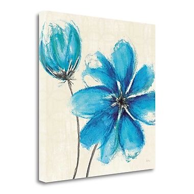 Tangletown Fine Art 'Azure IV' Print on Wrapped Canvas; 35'' H x 35'' W