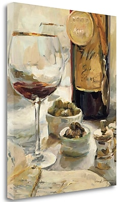Tangletown Fine Art 'Award Winning Wine I' by Marilyn Hageman Painting Print on Wrapped Canvas