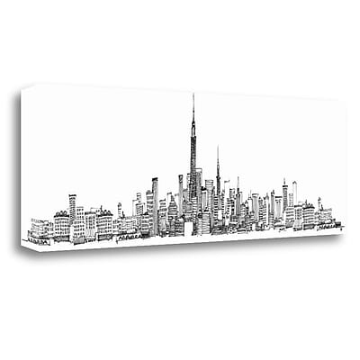 Tangletown Fine Art 'New York Skyline' by Avery Tillmon Painting Print on Wrapped Canvas
