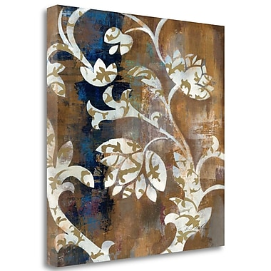 'Moonlight Magnolia Silhouette II' by Silvia Vassileva Graphic Art on Wrapped Canvas