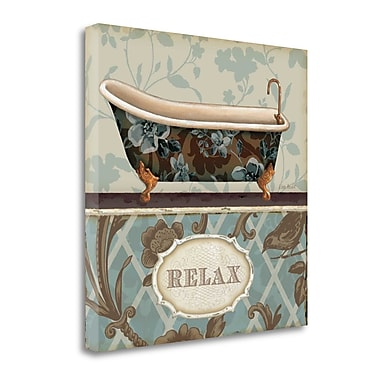 Tangletown Fine Art 'Bathroom Bliss I' Graphic Art Print on Wrapped Canvas; 26'' H x 26'' W