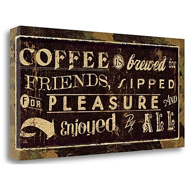 Tangletown Fine Art 'Coffee Quotes IV' Vintage Advertisement on Wrapped Canvas; 24'' H x 48'' W