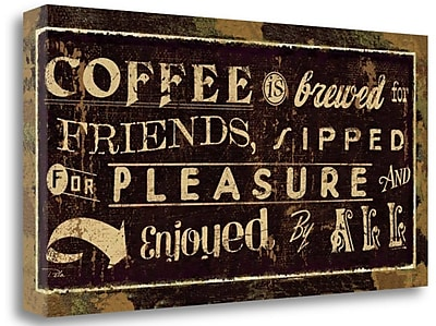 Tangletown Fine Art 'Coffee Quotes IV' Vintage Advertisement on Wrapped Canvas; 17'' H x 34'' W