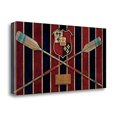 Tangletown Fine Art 'Varsity Boathouse' Graphic Art Print on Wrapped Canvas; 17'' H x 34'' W