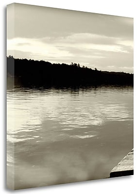 Tangletown Fine Art 'Twilight Dock II' Photographic Print on Wrapped Canvas; 20'' H x 20'' W