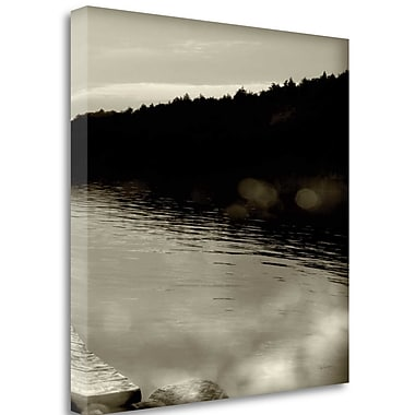 Tangletown Fine Art 'Twilight Dock IV' by Sue Schlabach Photographic Print on Wrapped Canvas