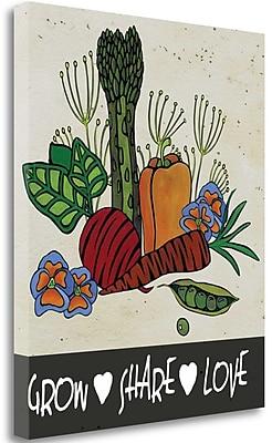 Tangletown Fine Art Grow Share Love' Graphic Art Print on Canvas; 21'' H x 18'' W