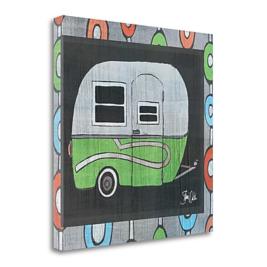 Tangletown Fine Art Green Camper- At the Lake' Graphic Art Print on Canvas; 18'' H x 18'' W