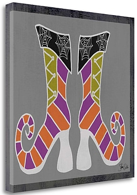 Tangletown Fine Art Good Witch Boots I' Graphic Art Print on Canvas; 35'' H x 35'' W