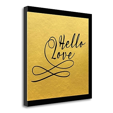 Tangletown Fine Art 'Hello, Love' Textual Art on Canvas; 29'' H x 29'' W