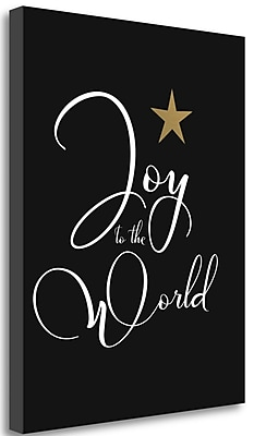 Tangletown Fine Art 'Joy to the World' Textual Art on Wrapped Canvas; 31'' H x 25'' W