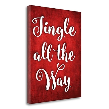 Tangletown Fine Art Jingle All the Way' Textual Art on Canvas; 20'' H x 16'' W