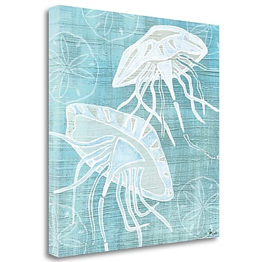 Tangletown Fine Art Jellyfish and Sanddollars' Graphic Art Print on Canvas; 18'' H x 18'' W