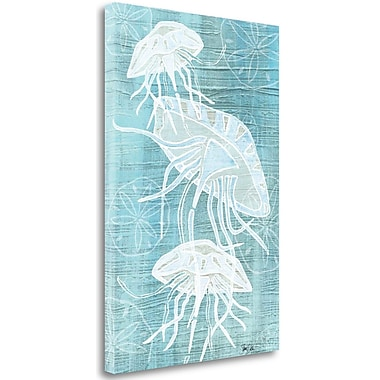 Tangletown Fine Art 'Jellyfish and Sanddollars II' Graphic Art Print on Wrapped Canvas
