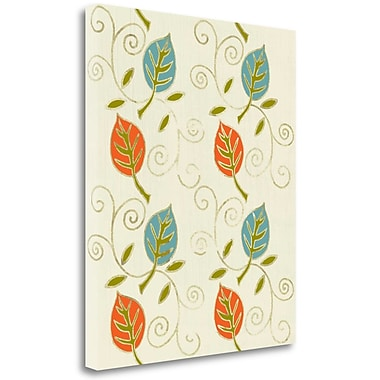 Tangletown Fine Art 'Harvest Leaves' Graphic Art Print on Wrapped Canvas; 34'' H x 28'' W