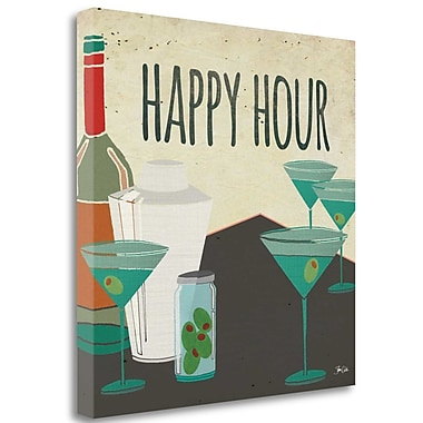 Tangletown Fine Art 'Happy Hour' Graphic Art Print on Wrapped Canvas; 20'' H x 20'' W